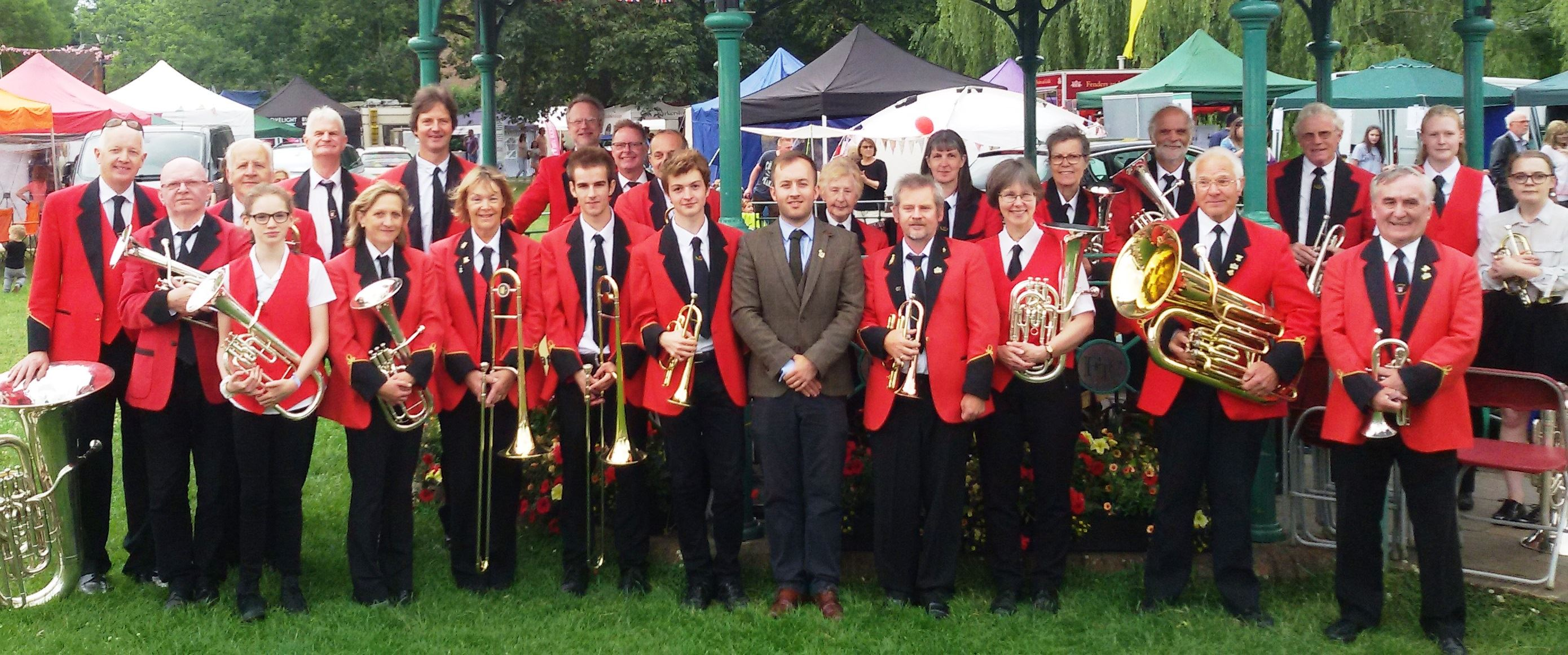 Farnham Brass Band in Gostrey Meadows July 2017